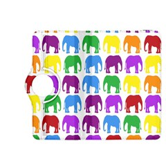 Rainbow Colors Bright Colorful Elephants Wallpaper Background Kindle Fire Hdx 8 9  Flip 360 Case by Simbadda