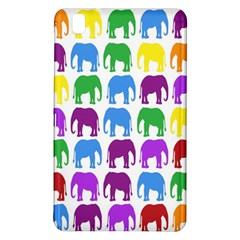 Rainbow Colors Bright Colorful Elephants Wallpaper Background Samsung Galaxy Tab Pro 8 4 Hardshell Case by Simbadda