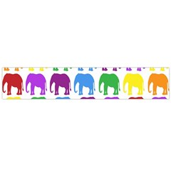 Rainbow Colors Bright Colorful Elephants Wallpaper Background Flano Scarf (large) by Simbadda