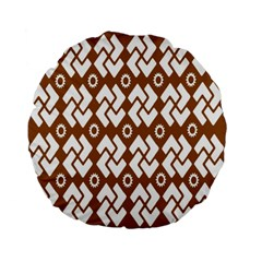 Art Abstract Background Pattern Standard 15  Premium Flano Round Cushions by Simbadda