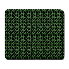 Clovers On Black Large Mousepads by PhotoNOLA