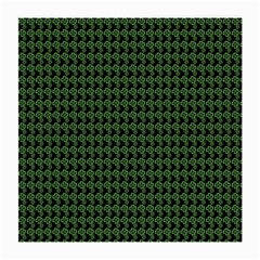 Clovers On Black Medium Glasses Cloth (2 Side) by PhotoNOLA