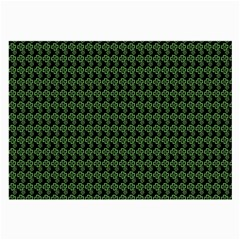 Clovers On Black Large Glasses Cloth by PhotoNOLA