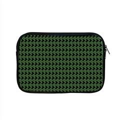 Clovers On Black Apple Macbook Pro 15  Zipper Case by PhotoNOLA