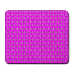 Clovers On Pink Large Mousepads by PhotoNOLA