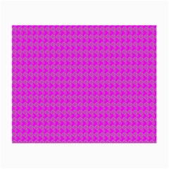 Clovers On Pink Small Glasses Cloth (2 Side) by PhotoNOLA