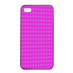 Clovers On Pink Apple Iphone 4/4s Seamless Case (black) by PhotoNOLA