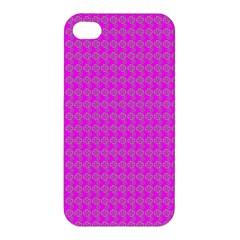 Clovers On Pink Apple Iphone 4/4s Premium Hardshell Case by PhotoNOLA