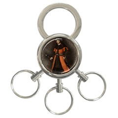Count Vlad Dracula 3 Ring Key Chains by Valentinaart