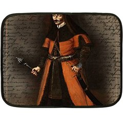 Count Vlad Dracula Fleece Blanket (mini) by Valentinaart