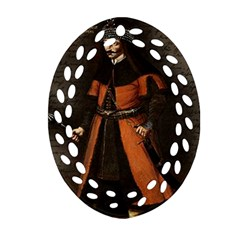 Count Vlad Dracula Oval Filigree Ornament (two Sides) by Valentinaart