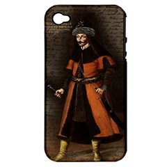Count Vlad Dracula Apple Iphone 4/4s Hardshell Case (pc+silicone) by Valentinaart