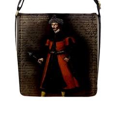 Count Vlad Dracula Flap Messenger Bag (l)  by Valentinaart