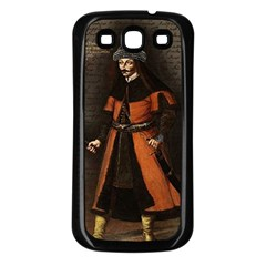 Count Vlad Dracula Samsung Galaxy S3 Back Case (black) by Valentinaart