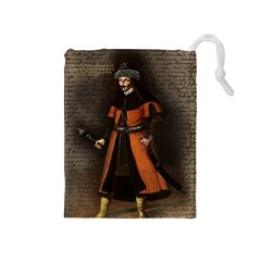 Count Vlad Dracula Drawstring Pouches (medium)  by Valentinaart