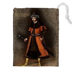 Count Vlad Dracula Drawstring Pouches (xxl) by Valentinaart