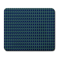 Clovers On Dark Blue Large Mousepads by PhotoNOLA