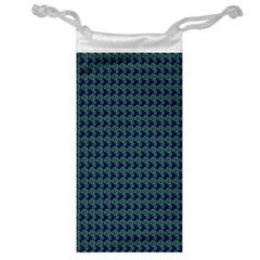 Clovers On Dark Blue Jewelry Bag by PhotoNOLA