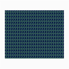 Clovers On Dark Blue Small Glasses Cloth (2 Side) by PhotoNOLA