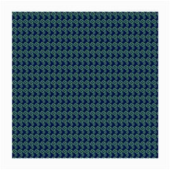 Clovers On Dark Blue Medium Glasses Cloth (2 Side) by PhotoNOLA