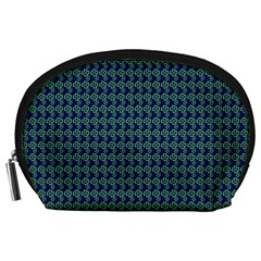 Clovers On Dark Blue Accessory Pouches (large)  by PhotoNOLA