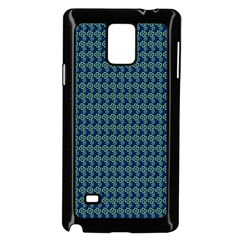 Clovers On Dark Blue Samsung Galaxy Note 4 Case (black) by PhotoNOLA