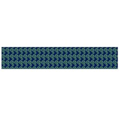 Clovers On Dark Blue Flano Scarf (large) by PhotoNOLA