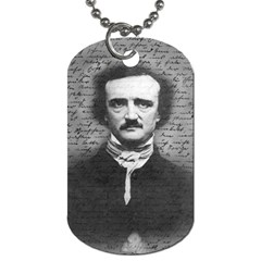 Edgar Allan Poe  Dog Tag (two Sides) by Valentinaart
