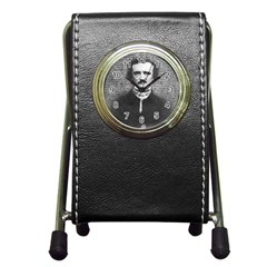 Edgar Allan Poe  Pen Holder Desk Clocks by Valentinaart