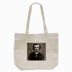 Edgar Allan Poe  Tote Bag (cream) by Valentinaart