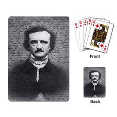 Edgar Allan Poe  Playing Card by Valentinaart