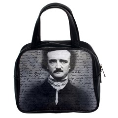 Edgar Allan Poe  Classic Handbags (2 Sides) by Valentinaart