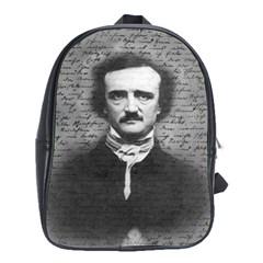 Edgar Allan Poe  School Bags (xl)  by Valentinaart