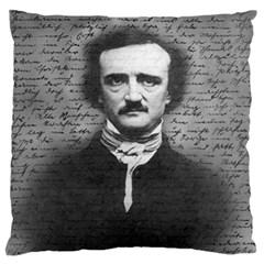 Edgar Allan Poe  Standard Flano Cushion Case (two Sides) by Valentinaart