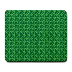 Clovers On Dark Green Large Mousepads by PhotoNOLA