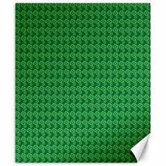 Clovers On Dark Green Canvas 20  X 24   by PhotoNOLA