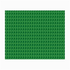 Clovers On Dark Green Small Glasses Cloth (2 Side) by PhotoNOLA