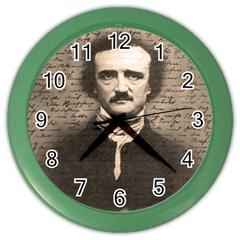 Edgar Allan Poe  Color Wall Clocks by Valentinaart