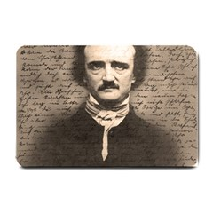 Edgar Allan Poe  Small Doormat  by Valentinaart