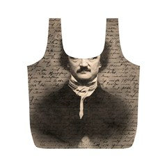 Edgar Allan Poe  Full Print Recycle Bags (m)  by Valentinaart
