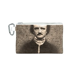 Edgar Allan Poe  Canvas Cosmetic Bag (s) by Valentinaart