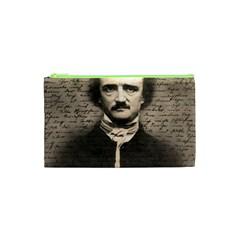 Edgar Allan Poe  Cosmetic Bag (xs) by Valentinaart