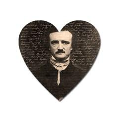 Edgar Allan Poe  Heart Magnet by Valentinaart