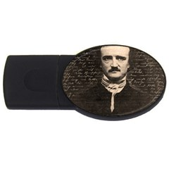 Edgar Allan Poe  Usb Flash Drive Oval (4 Gb) by Valentinaart