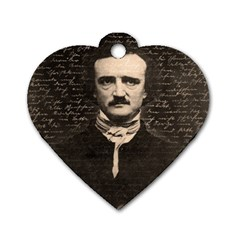Edgar Allan Poe  Dog Tag Heart (two Sides) by Valentinaart