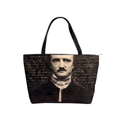 Edgar Allan Poe  Shoulder Handbags by Valentinaart
