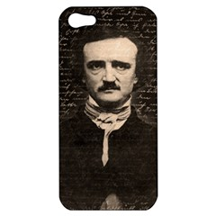 Edgar Allan Poe  Apple Iphone 5 Hardshell Case by Valentinaart