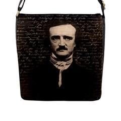 Edgar Allan Poe  Flap Messenger Bag (l)  by Valentinaart