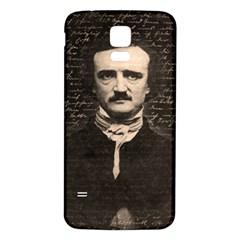 Edgar Allan Poe  Samsung Galaxy S5 Back Case (white) by Valentinaart