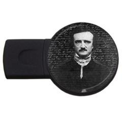Edgar Allan Poe  Usb Flash Drive Round (2 Gb) by Valentinaart
